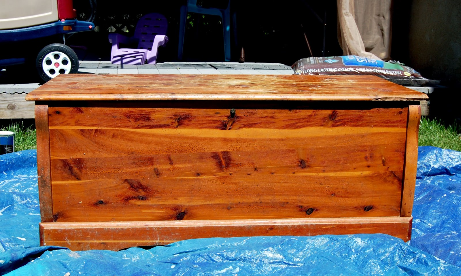 Hooked on pinterest safety update cedar chest turned