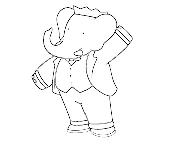 #4 Babar Coloring Page