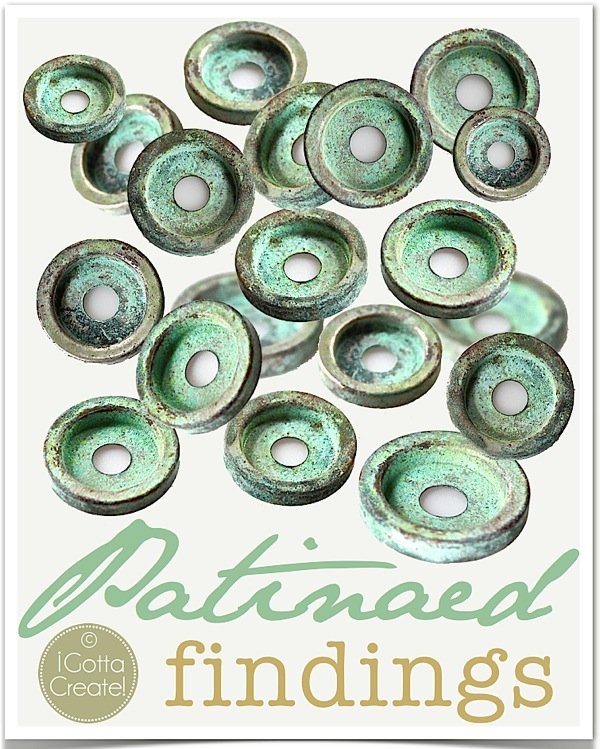 Perfectly patinaed button findings as a digital download for you from I Gotta Create!