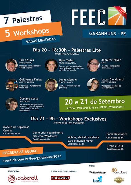 Programação - FEEC Lite 2013 em Garanhuns (PE)