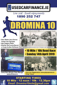 New 10 miler & 10k in N Cork - Sun 14th Apr 2019