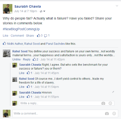 what is failure facebook saurabh chawla