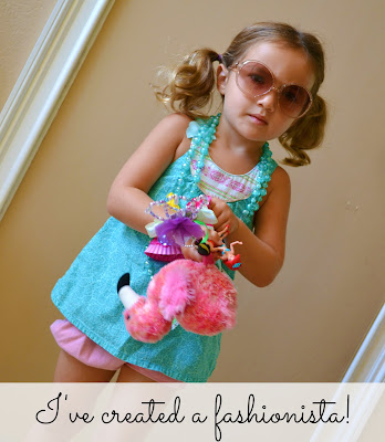 Little girl Spring Style with baby gap sunglasses and Target shirt