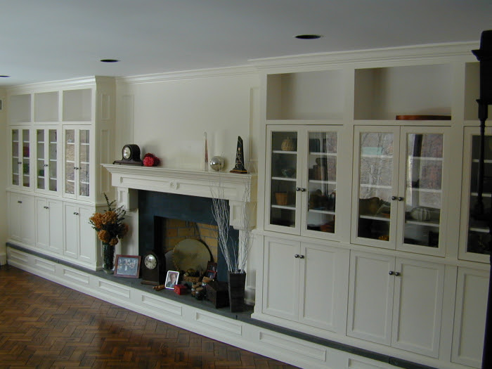 Wall Cabinets with Fireplace