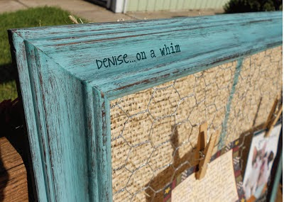 Chicken Wire Memo Board Feature in DIY Decorating Addict Magazine | Denise on a Whim