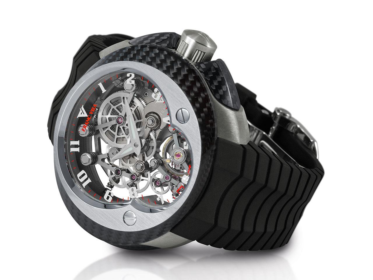 Franc Vila Cobra FV 18E Manual Suspended Skeleton Watch