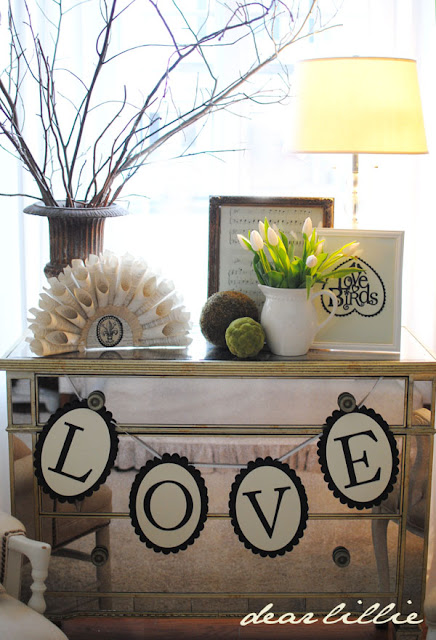 Neutral Valentine Decorating