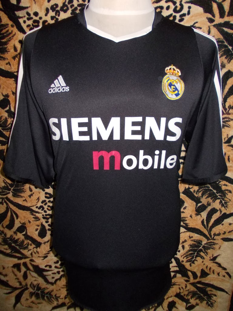 REAL MADRID FOOTBALL 2004 AWAY JERSEY-SIZE XL-RM 88