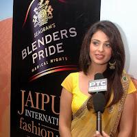 Anjana Sukhani in Yellow Transparent Saree