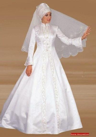 Une belle robe mariée hijab