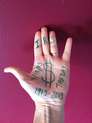 Internal Revenue Service Birthday today April 15th 2013 ~ Tax Deadline