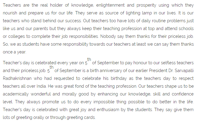 teacher for a day essay Happy teacher's day speech & essay pdf doc, jpg in english, hindi & gujarati languages for happy teacher's day 2017 celebration ceremony.