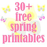 FREE spring printable: