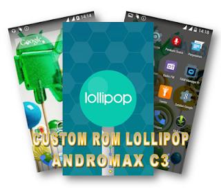 Tampilan Custom ROM Lollipop Untuk Smartfren Andromax C3
