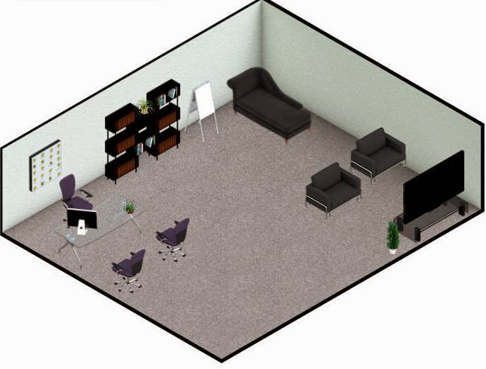 As Part Of My Coursework Through Walden University I Have Been Tasked To  Design A School Counseling Office. Above Is An Image Of The Office I  Created.