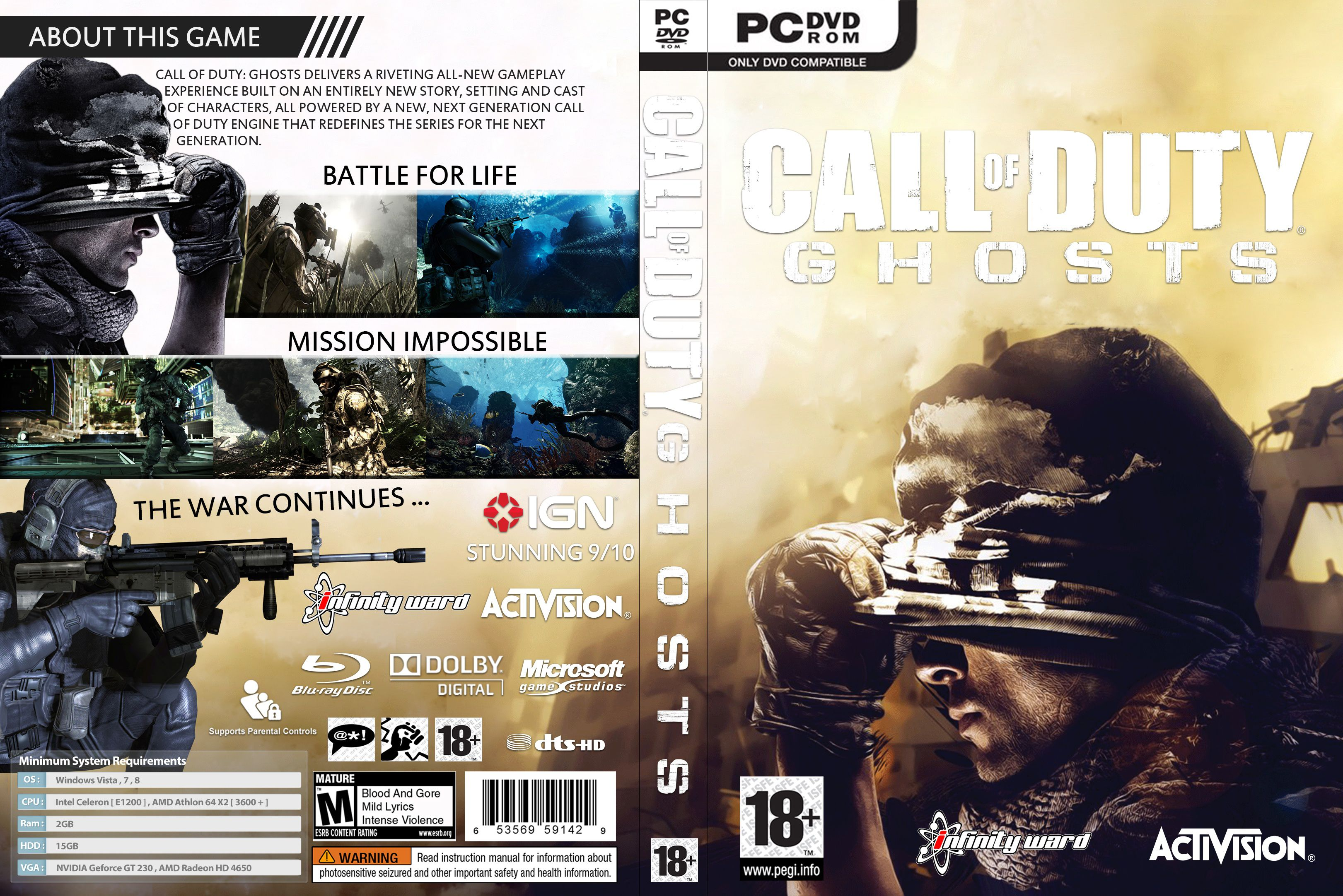 Capa Call Of Duty Ghosts PC
