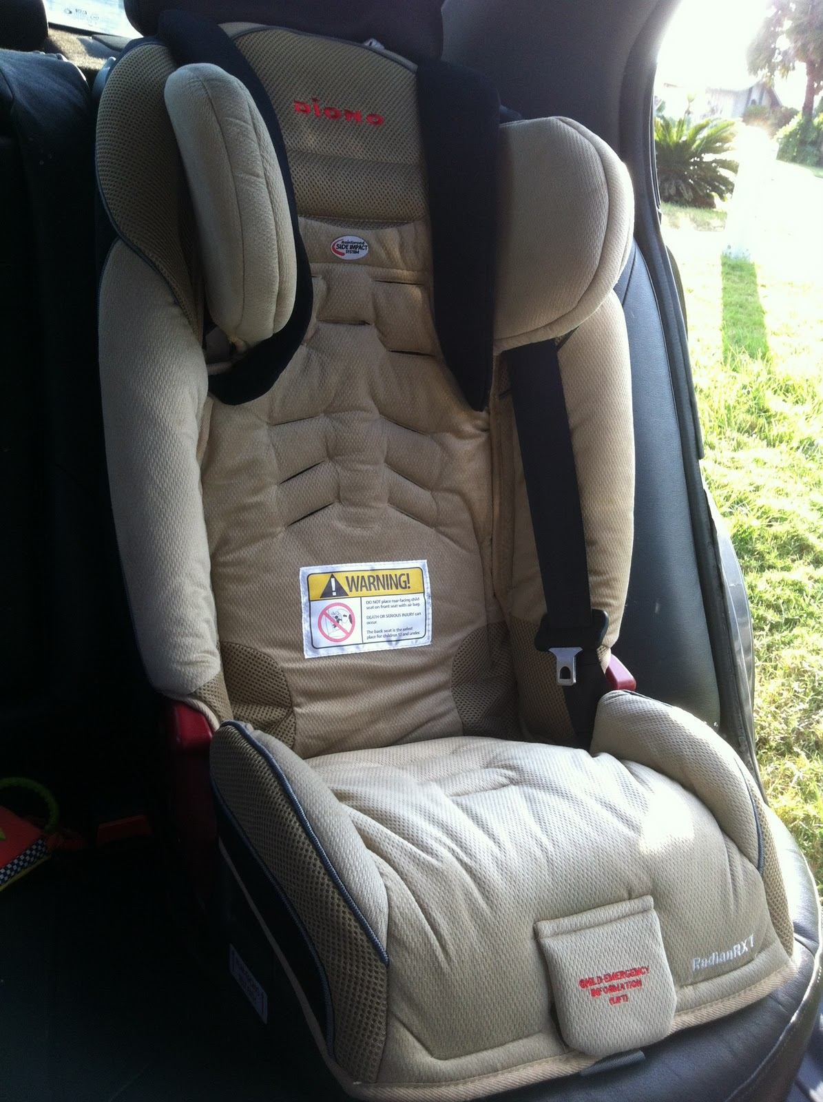 diono radian car seat manual