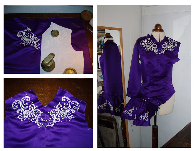 making an irish dance dress