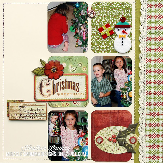 Christmas Kids_Scrapbook Page_Layout Holly