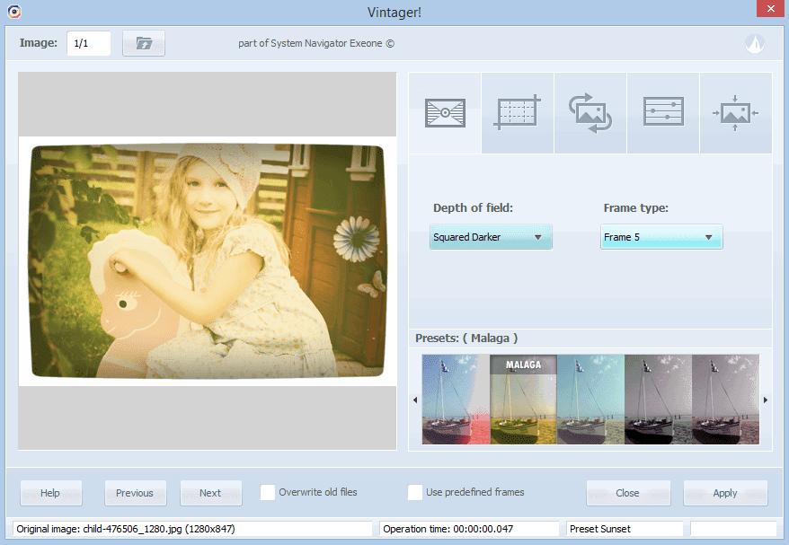 Interfaccia Vintager programma per Windows