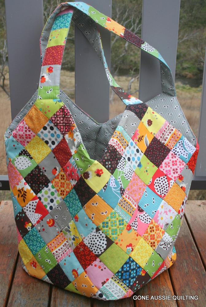 Quilting Patterns Bag : Gone Aussie Quilting: A Fancy Flea Market Bag?