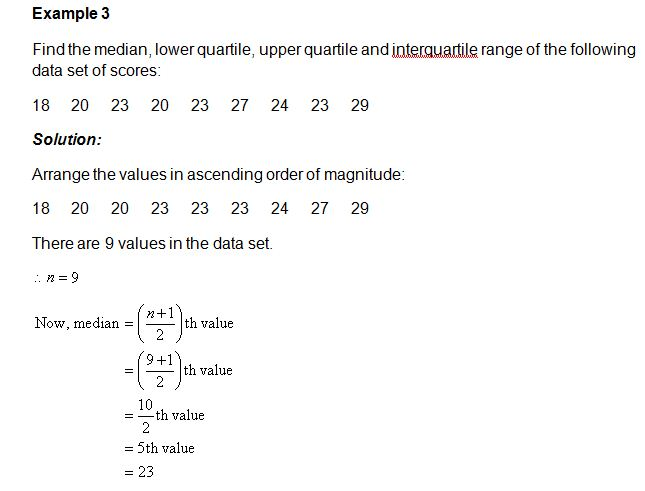 Quartiles deciles and percentiles the lower quartile value is the median of the lower half of the data the upper quartile value is the median of the upper half of the data example 6 ccuart Images