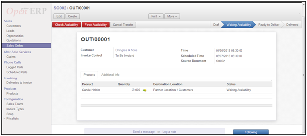 OpenERP4You Managing Sales Order in OpenERP 70 – Delivery Slip