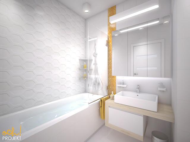 zółta nowoczesna łazienka