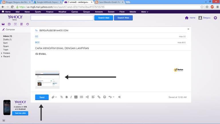 Cara Mengirim Email Lewat Yahoo dengan Lampiran 6