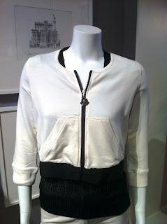 Moncler White Zip Hoodie