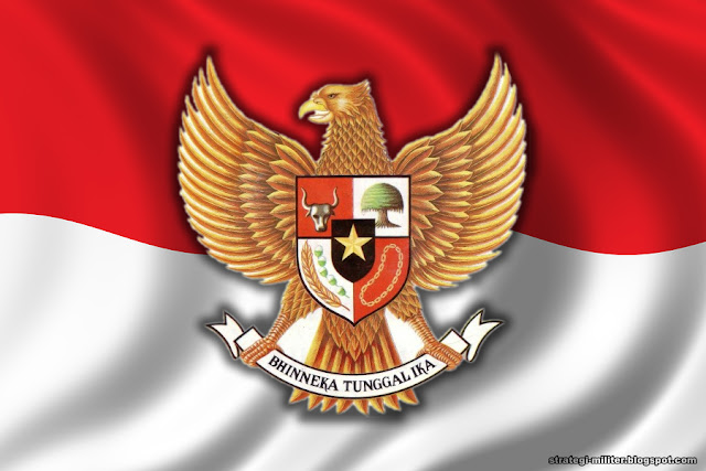 Lambang Garuda Pancasila + Merah Putih