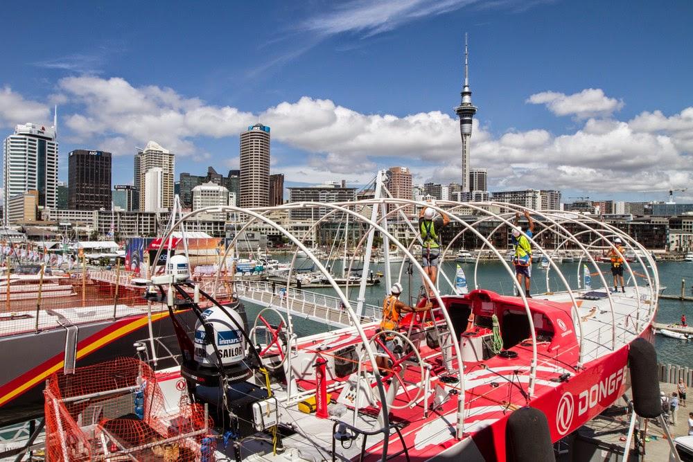 Dongfeng en chantier à Auckland.