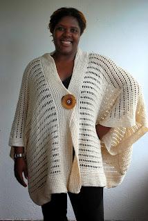 creamy offwhite oversize crochet cardigan sweater by ElegantCrochets