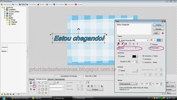 tutorial convite no photoscape