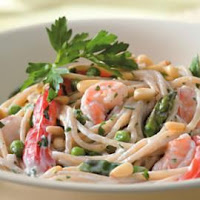Creamy Pasta Seafoods Recipe   Quick Healthy Seafood Recipe