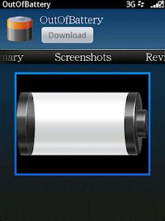 Aplikasi Blackberry Batery Kosong