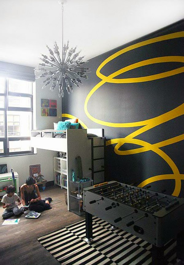 10 Creative Wall Painting Ideas And Techniques For All Rooms: kids room wall painting design