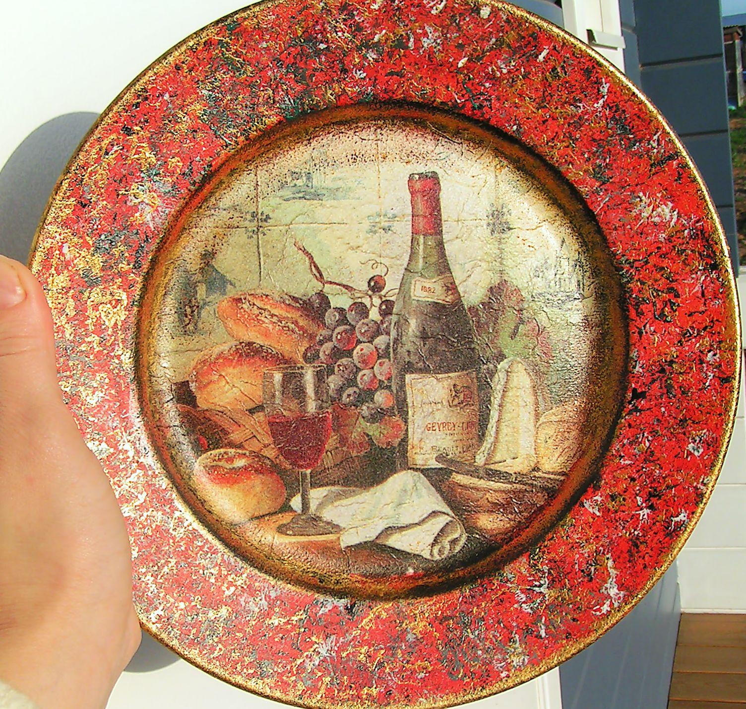 Декупаж тарелок своими руками фото