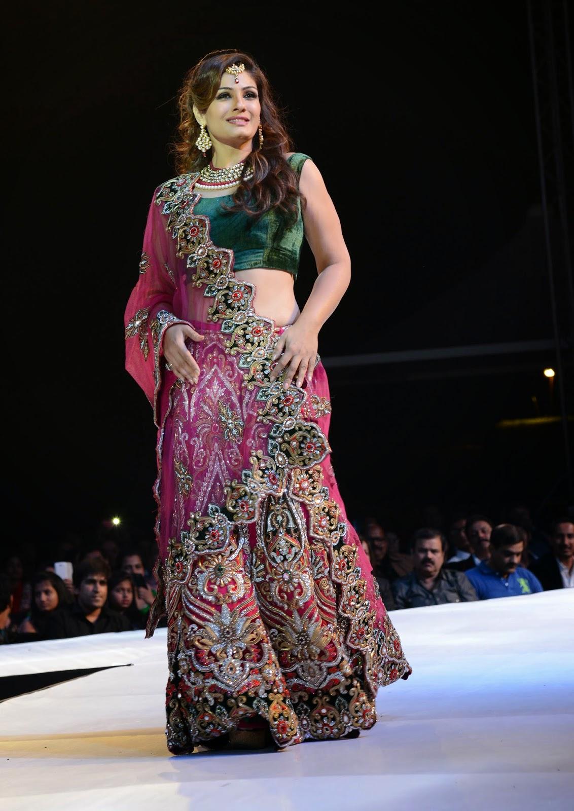 Raveena Tandon Ramp Walks Asif Shah's Fashion Show