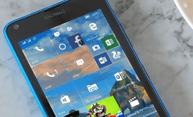 Lumia 640 running Windows 10 Mobile