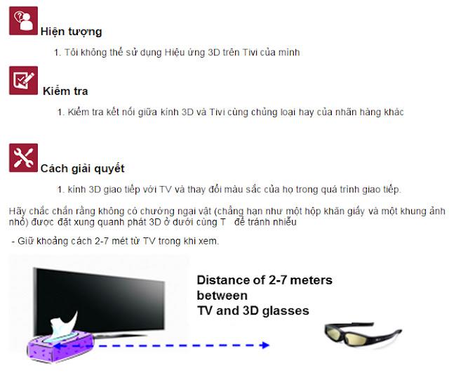Tại sao tôi không thể xem hiệu ứng 3D trên tivi LG  1