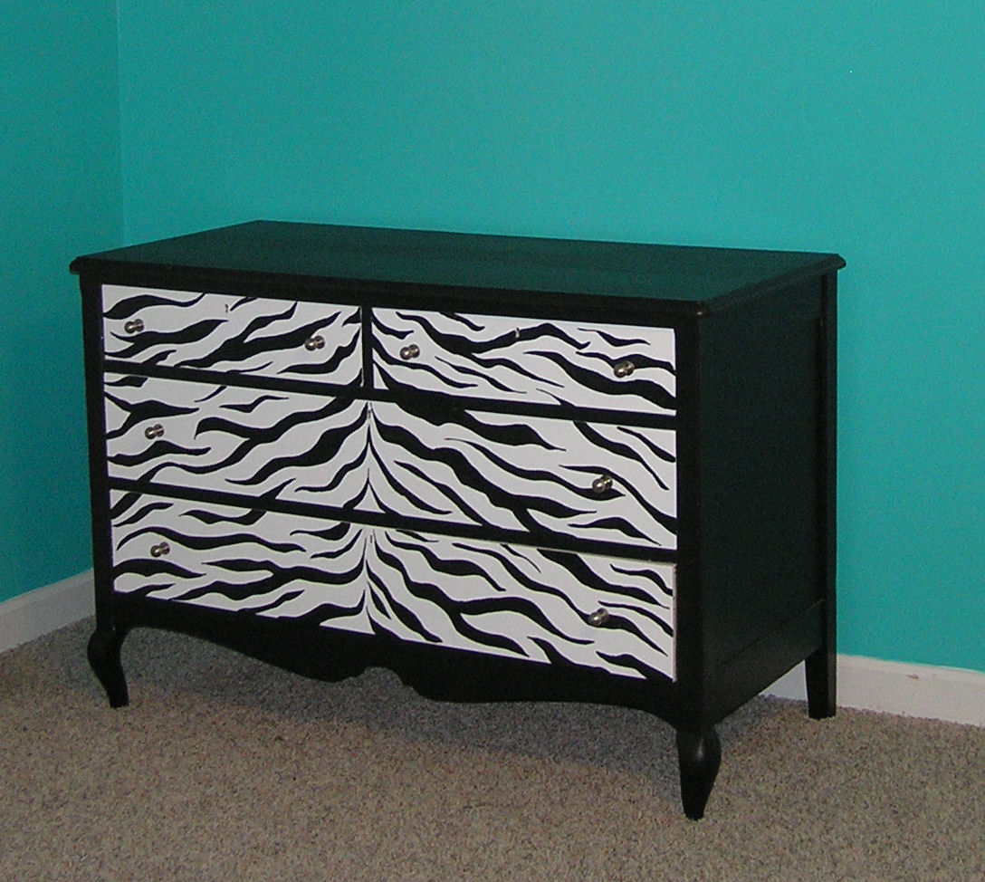 Stare If You Must How I Paint My Zebra Furniture