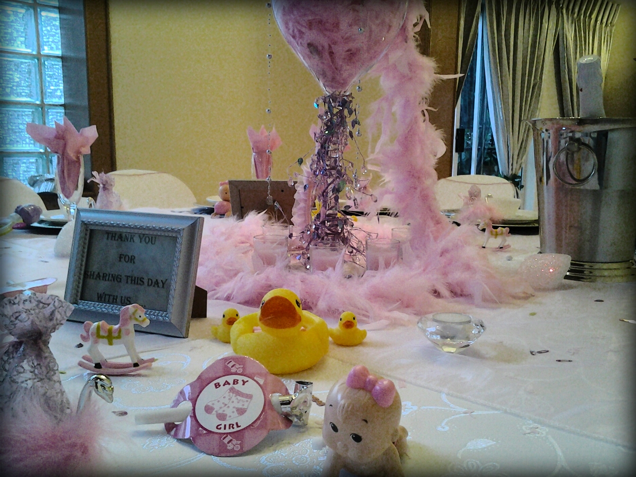 inclusive of full baby shower or bridal shower decor and catering
