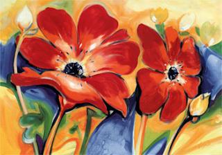 Sulu boya tablo çiçek resimleri