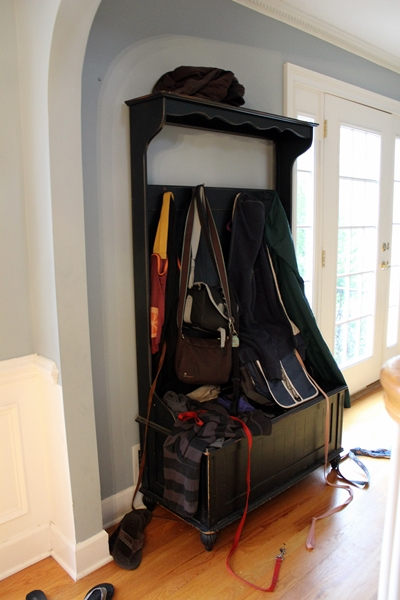 boxy colonial a new coat rack and bench for our foyer