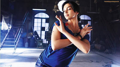 Hot Deepika Wallpaper nice in blue
