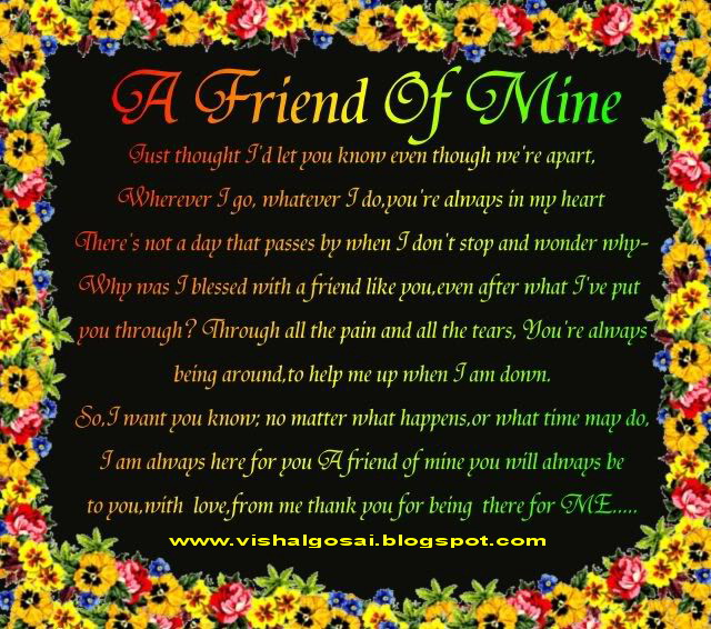 Beautiful Quotes About Friendship Alluring Vishal Gosai Beautiful Quotes True Friendship