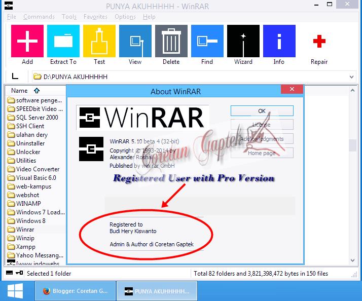 Serial Key untuk WinRAR 5.10 Beta 4 (32-bit/64-bit)