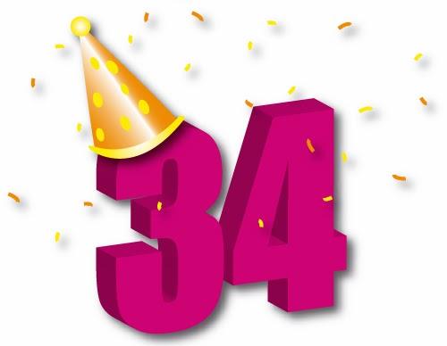 Поздравление с днем рождения девушка 34 года