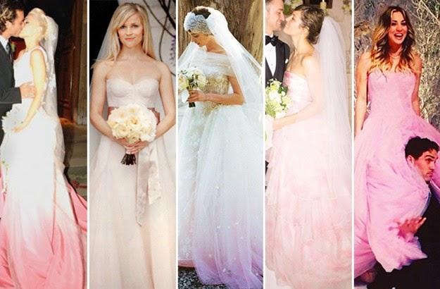 Pink Wedding Dress Trend New Celebrity Gossip And News